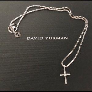 6701a994fe1213 David Yurman Jewelry - David Yurman cable classic cross necklace diamond