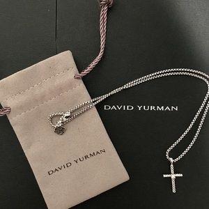 37bc5fe2326e David Yurman Jewelry - David Yurman cable classic cross necklace diamond
