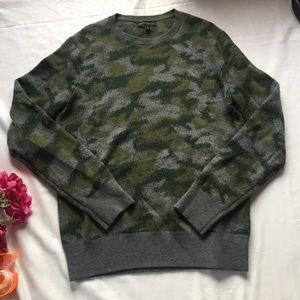 Banana Republic Merino Wool Camo Crew Neck Sweater