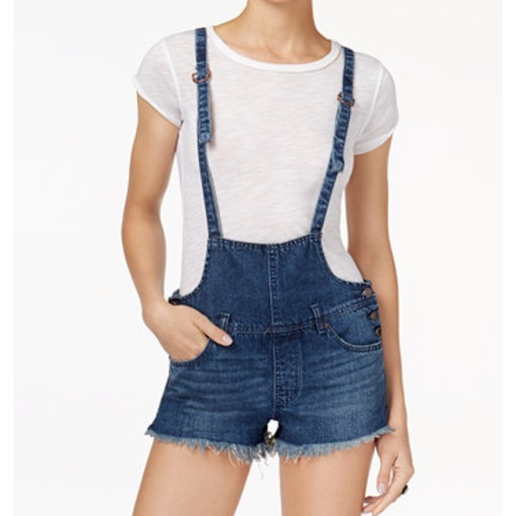 d76905cc1a2 Free People Denim - Free People Strappy Shortall