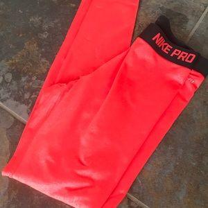 88c459605c68 Nike Pants - Nike Pro Dri-fit insulated snake print red legging