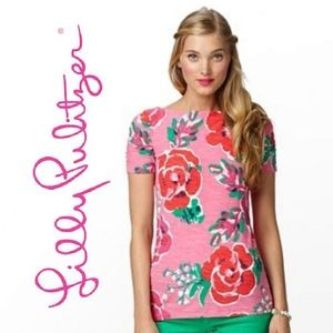 LILLY PULITZER Lana Floral Top
