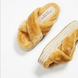 Jeffrey Campbell Shoes - Jeffrey Campbell Luxe Faux Fur Sandals