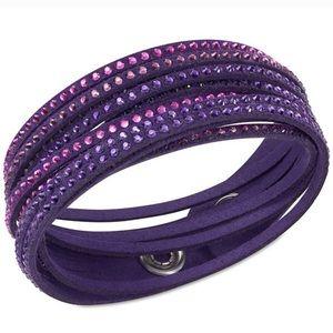 Clearout Swarovski Purple Slake Bracelet Crystal
