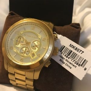 00d51dac7398 Michael Kors Accessories - Michael Kors Oversized Runway Gold-Tone Watch
