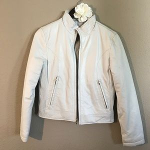 Wilsons Leather Maxima Cream Leather Jacket, Small