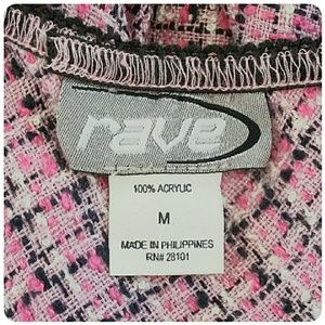 Rave Skirts - *CLEARANCE Pink Houndstooth Asymmetrical Hem Skirt