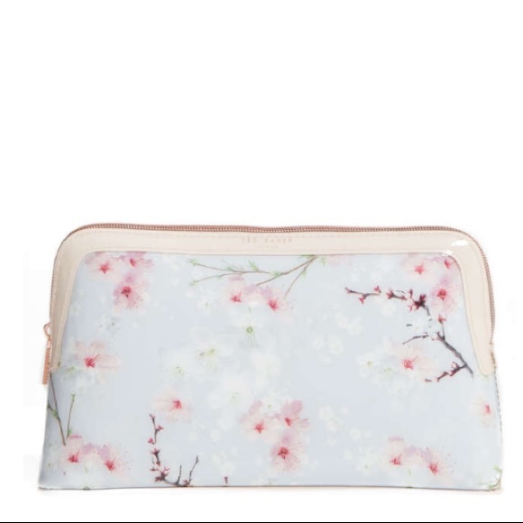 official photos d07ab 4fca0 Ted Baker London Cherry Blossom Larg Cosmetic Bag NWT