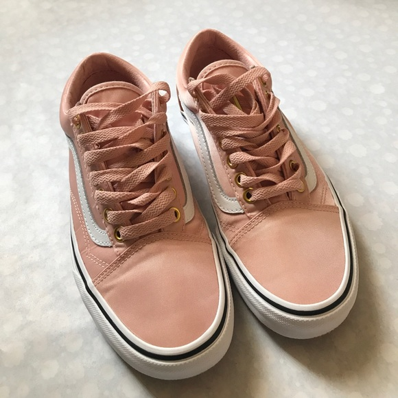 Light Pink Satin Vans | Poshmark