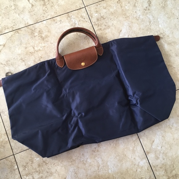28cab378586f Longchamp LE PLIAGE Travel Bag Type XL Navy Duffel