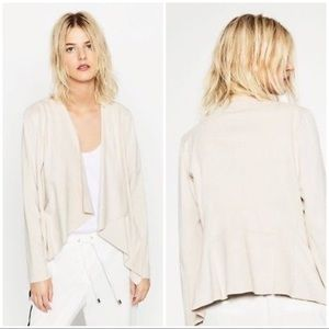 draped jackets drapes poshmark zip listing jacket suede m coats zara