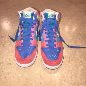quality design 8c101 fc0f6 Nike Shoes - Womens Nike Dunk High 6.0 Multicolored Sneakers