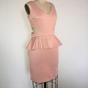 Dresses & Skirts - Salmon Peplum with Key Holes