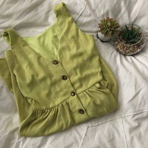 Dresses & Skirts - Chartreuse yellow sundress with a button down back