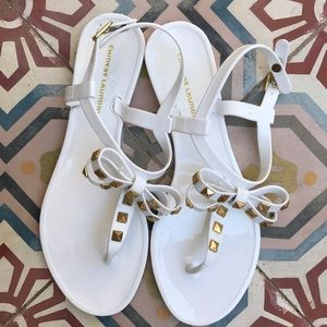 CHINESE LAUNDRY STUDDED jelly SANDAL FLIP FLOP 8.5
