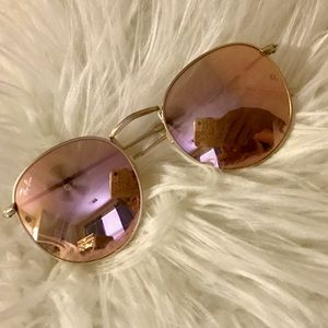 Ray-Ban Round Flash Copper Flash Rose Gold Sunnies