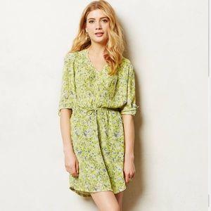 Anthropologie Maeve Garden Dress in Green