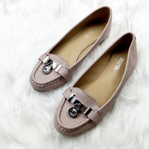 New Michael Kors Blush Pink Quilted Loafers