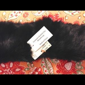 NWT -Genuine Rabbit Fur Headwrap