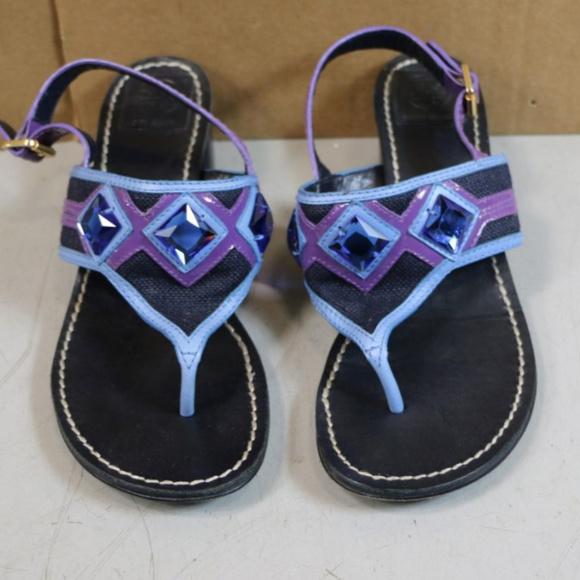 e96ebe764 ... Embellished Low-Heel Thong Sandal. M 599b6cd7ea3f362c1a014032