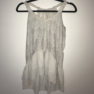 Off-white racer back lace blouse