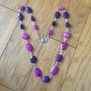 Jewelry - Long pink purple necklace