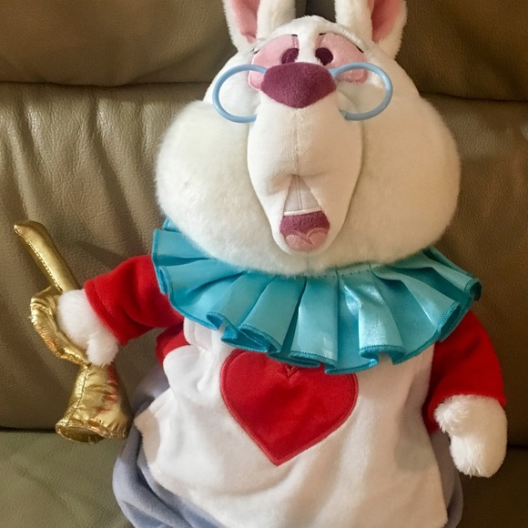 Disney Store Other Alice And Wonderland White Rabbit Plush New