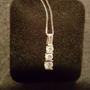 Jewelry - 14k White Gold diamond Necklace
