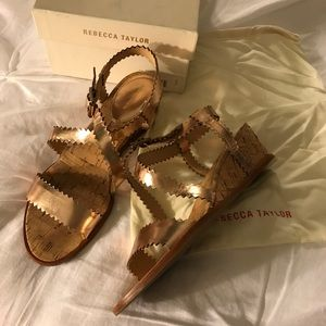 REDUCED! Rebecca Taylor Simona Wedge Sandals