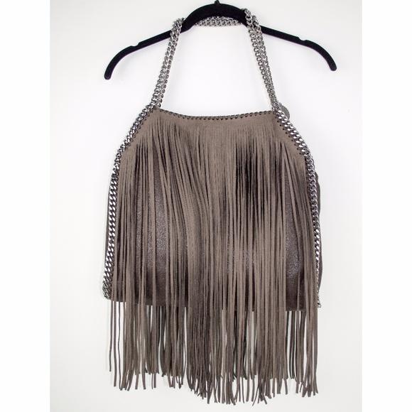 NWT Stella McCartney Falabella Leather Fringe Bag 188416f61959e