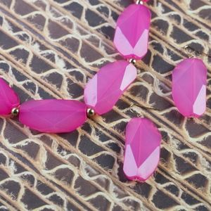 Big Pink Fashion Necklace & Earring Set