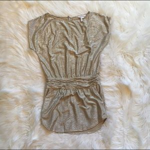 BCBGeneration gold metallic dress worn once
