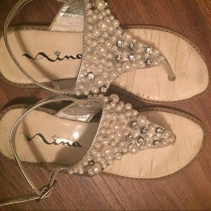 Nina Shoes - Nina Bejeweled Sandals