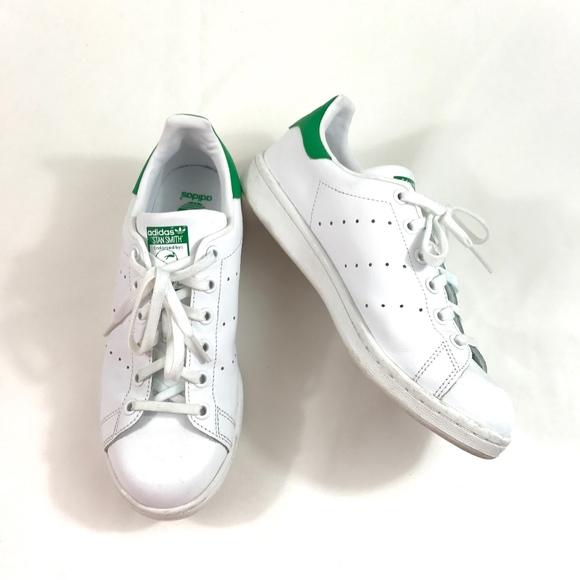 adidas stan smith bianco verde 55 ragazzi 7 donne poshmark