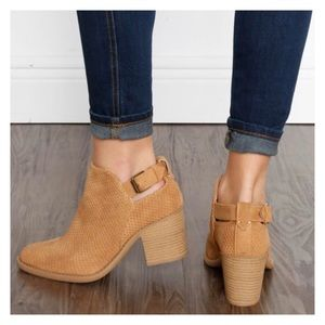 Shoes - New Arrival- Vegan Suede Ankle Booties, Size 6