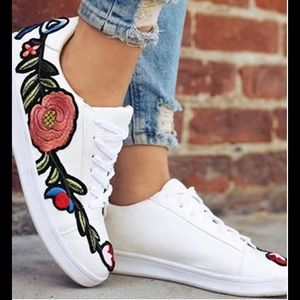 Shoes - Embroidered Sneakers