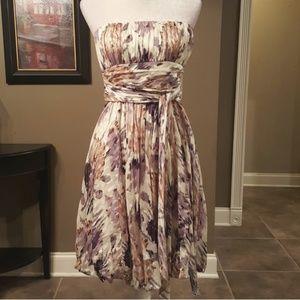 Bcbgmaxazria Silk Chiffon Dress