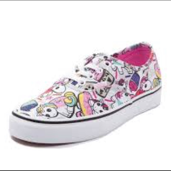 Unicorn and Cupcakes Vans. Listing Price: $10