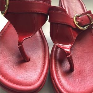 07914923ecf Cole Haan Shoes - Red Cole Haan Nike Air maddy Thong sandals 8.5
