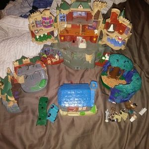 Harry potter polly pocket style castle miniatures