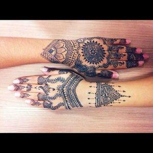Makeup 2 X Black Henna Cones Temporary Tattoo Mehndi Ink Poshmark