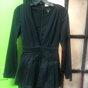 Romper black V cut front from TADofStyle