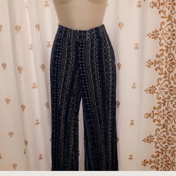 Pants Patterned Flowy Poshmark Enchanting Patterned Flowy Pants