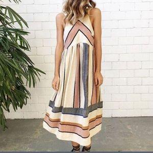 NWT striped midi dress