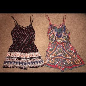 Other - Two Patterned Rompers!!