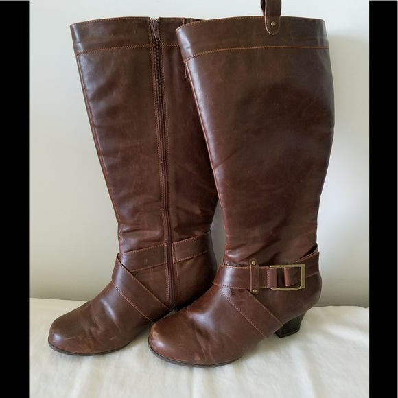8e28c12cbf4 Comfortview Shoes - Jali Wide Calf Boot by Comfortview