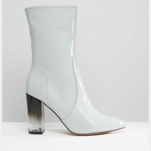 NWT ASOS Lucite grey boots
