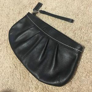 Black Coach leather clutch / wristlet