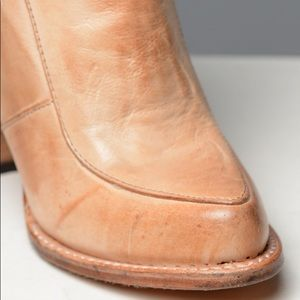 Free People Royale Flats Natural Sand Leather Bootie NEW IN BOX Size 38 8