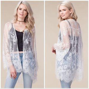 Sheer Lace Cardigan/Kimono